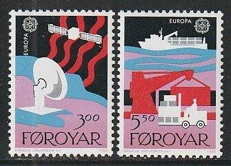 1988 Faroe Islands - Sc 173-4 - MNH VF - 2 single - Europa