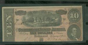 CSA $10 1864 Note F-VF