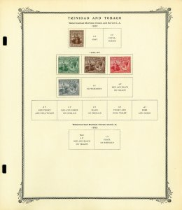 Trinidad And Tobago Clean Mostly Mint 1913 to 1990s Vintage Stamp Collection