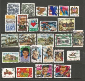 USA Postage Stamps Used (26 stamps)
