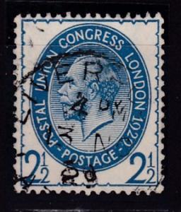 Great Britain 1929 2 1/2d KGV Union Postal Congress  FINE/VF/Used