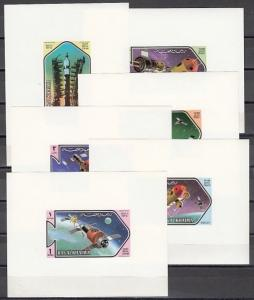 Ras Al Khaima, Mi cat. 547-552 C. Space Research issue as Deluxe s/sheets. ^