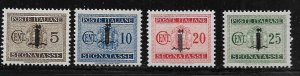 ITALIAN SOCIAL REPUBLIC J1-J4 HINGED POSTAGE DUE STAMPS OVPTD