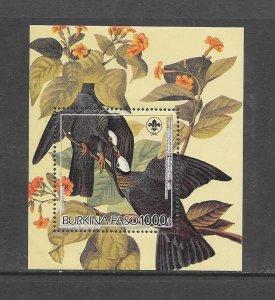 BIRDS - BURKINA FASO #723  (SS)   AUDUBON   MNH