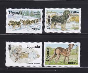 Uganda 1129-1130, 1132-1133 MNH Dogs