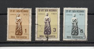 Portuguese India 524-526 used