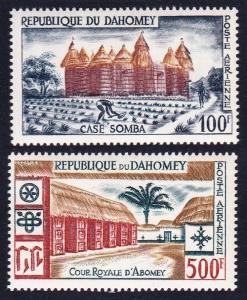 Dahomey Local Life and Architecture Airmail 2v SG#145-146 MI#173-174 SC#C14-C15