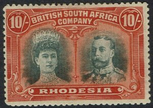 RHODESIA 1910 KGV DOUBLE HEAD 10/-