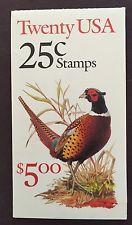 BK158 $5.00, 2283a, 25c Pheasant (2) 1988