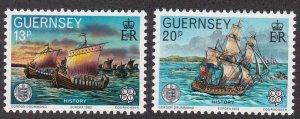 Guernsey # 241 & 242, Europa, NH, 1/2 CAt.