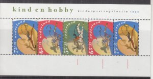 NETHERLANDS, 1990 Child Welfare set of 3 & souvenir Sheet, mnh.