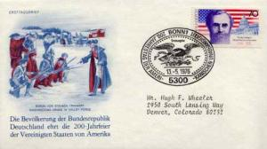 Germany, First Day Cover, Americana