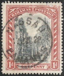 BAHAMAS 1916 Sc 48, Used F-VF 1d  Trees, SOTN  NASSAU postmark cancel
