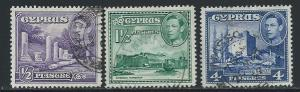 CYPRUS SC# 164-6 F-VF U 1951