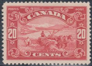 Canada -#157 - 1929 20c Harvesting Wheat mint