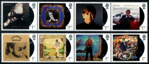 HERRICKSTAMP GREAT BRITAIN Sc.# 3876-83 Elton John Album Covers Strips