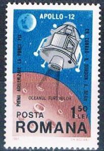 Romania 2137 MNH Apollo 12 1969 (R0615)+
