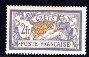 France Offices in Crete #14, hinged, CV $40.00