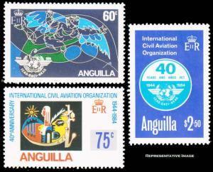 Anguilla Scott 609-611 Mint never hinged.