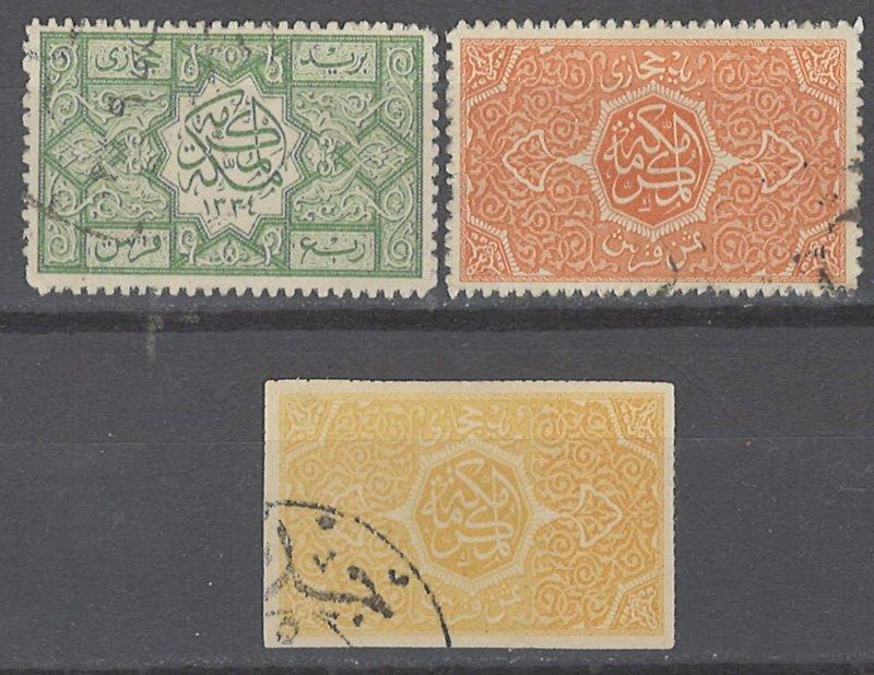 COLLECTION LOT # 2264 SAUDI ARABIA 3 STAMPS 1916+ CV+$33