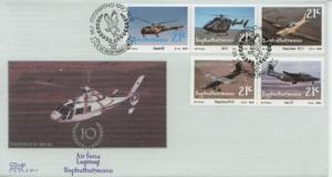 1990 Bophuthatswana 10th Anniv Air Force 253a-e FDC