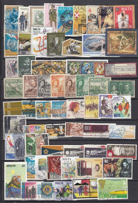 Malta -  stamp collection - (2894)