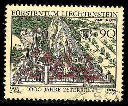 Liechtenstein # 1087 ~ Used, HMR ~ cv 1.50