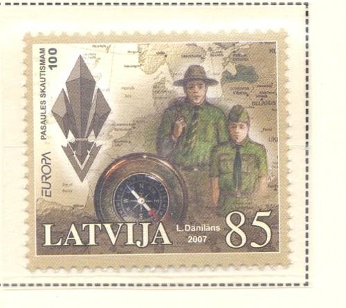 Latvia Sc 677 2007 Europa Scouting stamp mint NH
