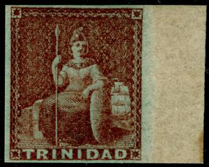 TRINIDAD AND TOBAGO SG7, 1d brownish-red, M MINT. Cat £300.