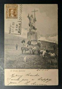 1906 El Cristo Redentor Santiago Chile Providence RI USA Postcard Cover