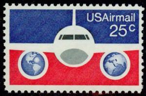 C89 Plane and Globes F-VF MNH single
