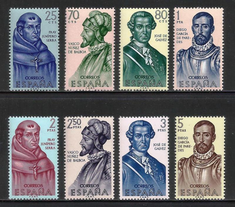 Spain 1963 Builders of the New World Scott# 1187-1194 MNH