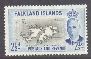 Falkland Is Scott 110 - SG175, 1952 George VI 2.1/2d MH*