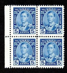 Canada Scott 214 MNH Margin Block of 4