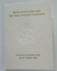 1985 Stamps Commemorating the 40th Anniversary of the United Nations 22c & 45c