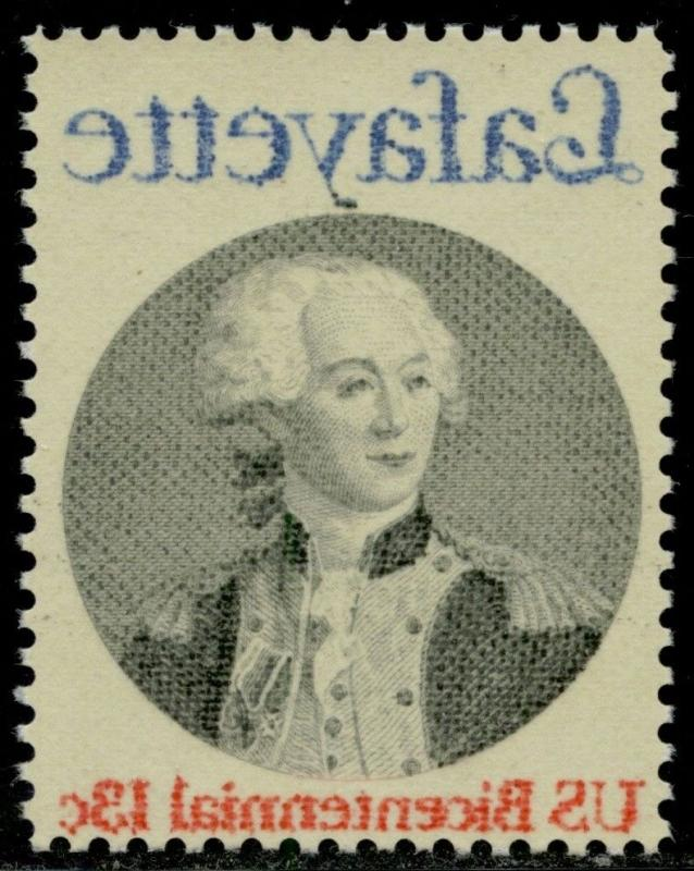 #1716 VAR. LAFAYETTE REVERSE OFFSET PRINTING MAJOR ERROR BQ2302