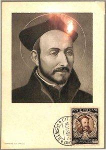 90120 -  VATICAN - MAXIMUM CARD - SAINT Ignatius of LOYOLA -  Religion  1950
