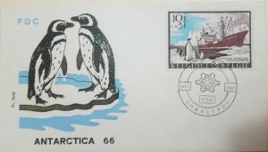 L) 1966 BELGIUM, ANTARCTIC EXPEDITIONS, PENGUINS, BOAT, FDC