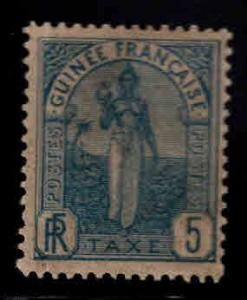 FRENCH GUINEA Scott J1 MH* Postage due stamp