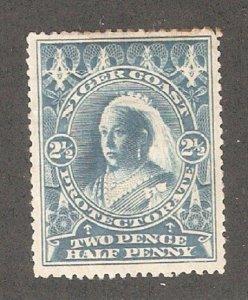 Niger Coast 1897,Victoria,2 1/2p,Scott 58,Mint Previously Hinged* (N-2)