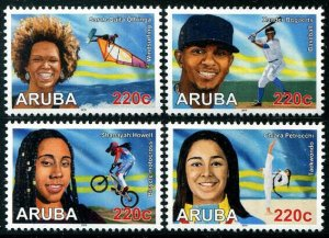 HERRICKSTAMP NEW ISSUES ARUBA Sc.# 628-31 Sports 2019