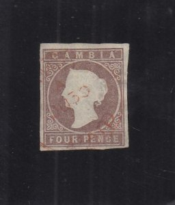 Gambia: Sc #3, Used (34629)