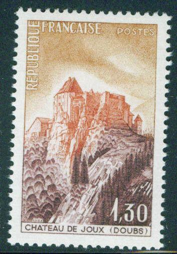 France Scott 1112 MH* 1964 Joux Chateau stamp