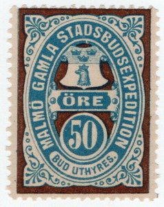 (I.B) Sweden Local Post : Malmo 50 Ore