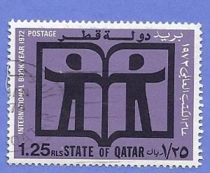Qatar Scott #302 1.25r International, Book Yr. CV $1.50 Use