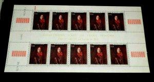 MONACO #774-775, 1970, PRINCES OF MONACO, SET/2 GUTTER SHEETS/10, MNH, LOOK!
