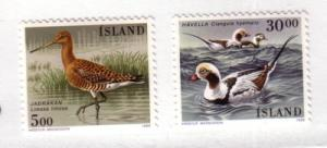 Iceland Sc665-6 1988 birds stamps mint NH