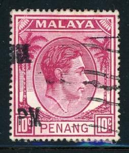 Mayaya - Penang #11 King George VI 10c 1949 used