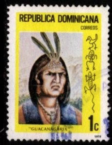 Dominican Republic - #746 Indian Chiefs -  Used