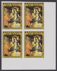 Mali 'Virgin and Child' Lotto Christmas Imperf block of 4 SG#1059